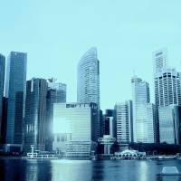 Just Blue - Urban Singapore Art Prints & Posters by Blue Sentral Photography