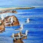 """California Birds Oil 20x16 $275"" by HGCavazoz"