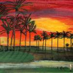 """Desert Golf 20x16"" by HGCavazoz"