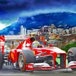 """""""Ferrari at Monaco"""" by ArtbySachse"""