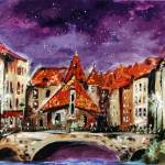 """Night In Annecy France"" by GinetteCallaway"
