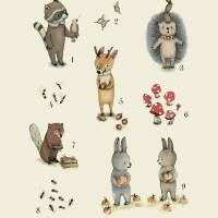 Number and animals Art Prints & Posters by Paola Zakimi