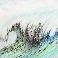 Barb's Wave025 Art Prints & Posters by Kerry Beauchamp