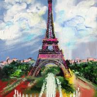 Eiffel Tower Art Prints & Posters by Galina Victoria