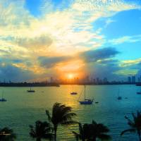 Sunset Miami Style Art Prints & Posters by John Thompson