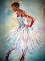 Ballet Painting - Poised To Go