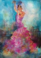 Flamenco Dancer In Pink Dress