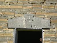 1883 Kansas Schoolhouse door lintel