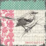 """Vintage songbird 3"" by DebbieDeWitt"
