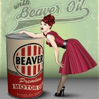 Beaver Oil (Safe for family and work) Art Prints & Posters by Neal Wollenberg