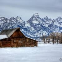 Tetons in Snow Art Prints & Posters by RH Miller