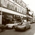 """Town Scene Monochrome, Singapore Bugis"" by sghomedeco"