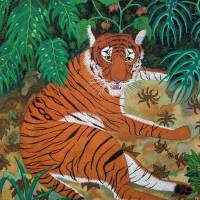 Tiger in the Shade Art Prints & Posters by Oenone Hammersley
