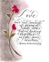 Love quote calligraphy art