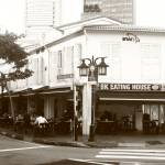 """Avenue Singapore in the Morning - Urban BW"" by sghomedeco"