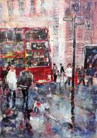 City Walkers - Painting Of London Street Scene