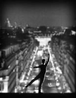 Ballet dancer atop Paris Opera House