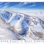 """Winter Place, West virginia"" by jamesniehuesmaps"