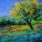 """oak amid flowers in texas"" by pol"
