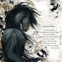 """DreamWalker Majestic Friesian"" by AmyLynBihrle"