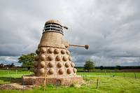 Dalek made from Straw