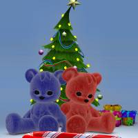 Christmas Bears 2 Art Prints & Posters by Alex Butler
