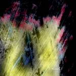 """yellow pink and blue light painting"" by jnanian"