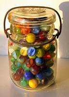 Marbles in Bell Jar
