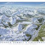 """Donner Summit Ski Areas, California"" by jamesniehuesmaps"