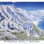 """Diamond Peak, Nevada"" by jamesniehuesmaps"
