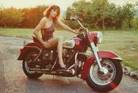 Pinup Girl On A Motorcycle