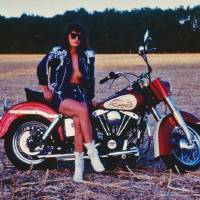1980s Girl With Motorcycle Art Prints & Posters by Malcolm Snook