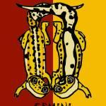 """""""Zodiac Geckos: Gemini"""" by EmilyFilos"""
