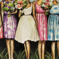The Bride and Her Bridesmaids Art Prints & Posters by Elizabeth Robinette Tyndall