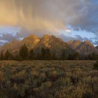 Grand Teton Mountain Range Art Prints & Posters by Mike Norton
