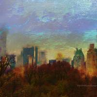 The Fall Of Central Park Art Prints & Posters by Rondanart Art
