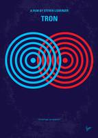 No357 My TRON minimal movie poster