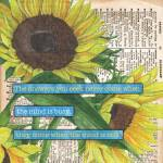 """Sunflower Dictionary 1"" by DebbieDeWitt"
