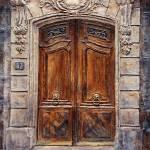 """""""Parisian Door No. 37@CC5FAA"""" by JoeyAgbayani"""