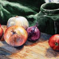 Onions and Tomatoes Art Prints & Posters by Joey Agbayani