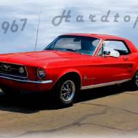 1967 Ford Mustang Hardtop Art Prints & Posters by Betty Northcutt