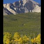 """Golden Longs Peak 14259 Poster"" by lightningman"