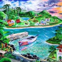 Isla Del Encanto, Heart of the Puerto Rico Island Art Prints & Posters by Galina Victoria