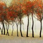 """row of trees in fog"" by rchristophervest"