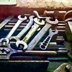 """Wrenches in Machine Shop"" by susansartgallery"