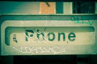 Old payphone, Chicago