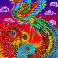 Fenghuang Chinese Phoenix. Art Prints & Posters by Rebecca Wang
