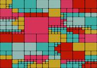 Colorful squares abstract design