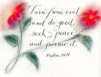 Psalm 34 calligraphy art