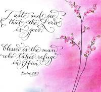 Psalm 34:3 calligraphy art